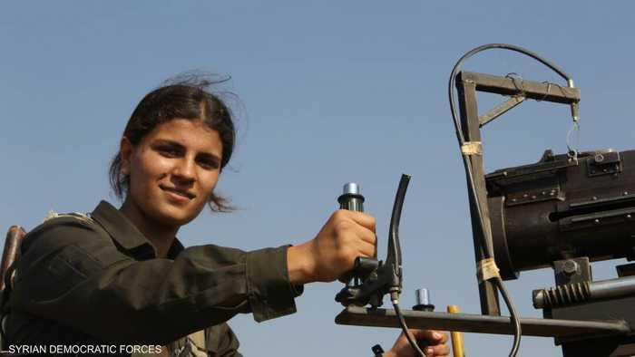 قوات سوريا الديمقراطية نشرت صورة المقاتلة