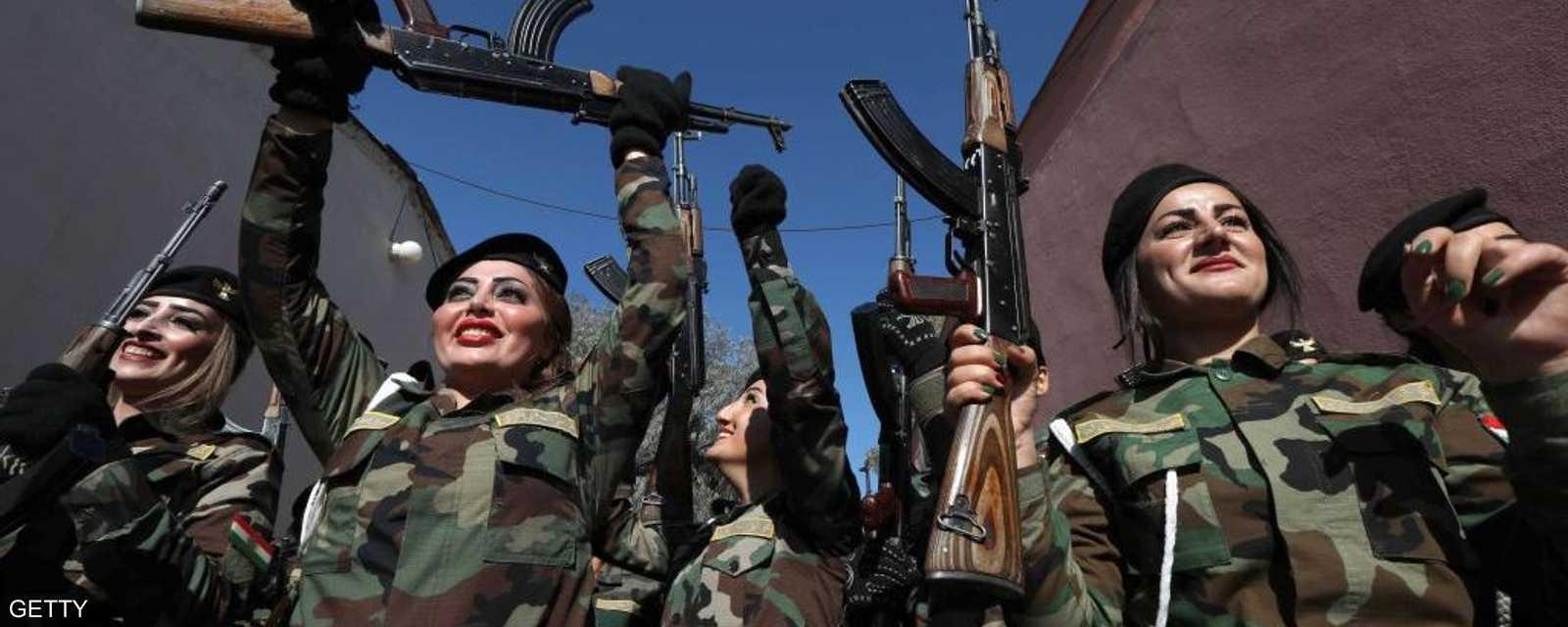 الكرديات لهن مساهمات فاعلة في القتال بسوريا والعراق