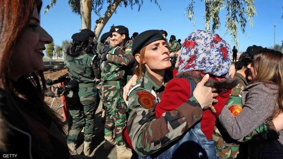 فرحة أهالي المقاتلات بتخرجهن من أكاديمية زاخو العسكرية