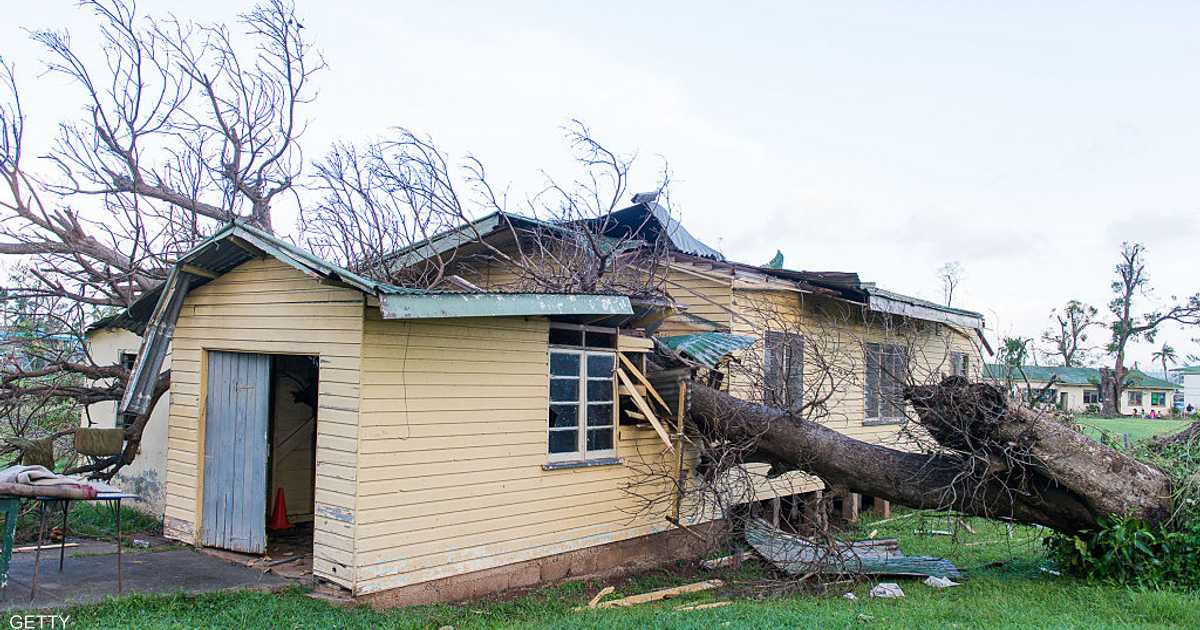 من-بينها-البرلمان..-انهيار-مبان-في-تونغا-بعد-اعصار-جيتا