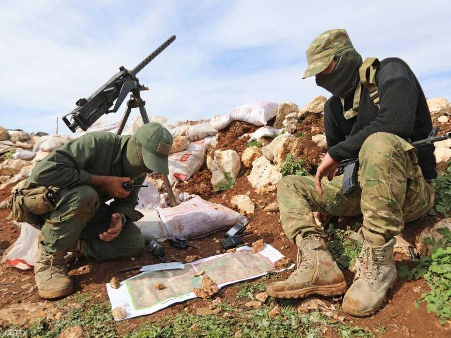 عناصر قوات مدعومة من تركيا في عفرين. أرشيفية