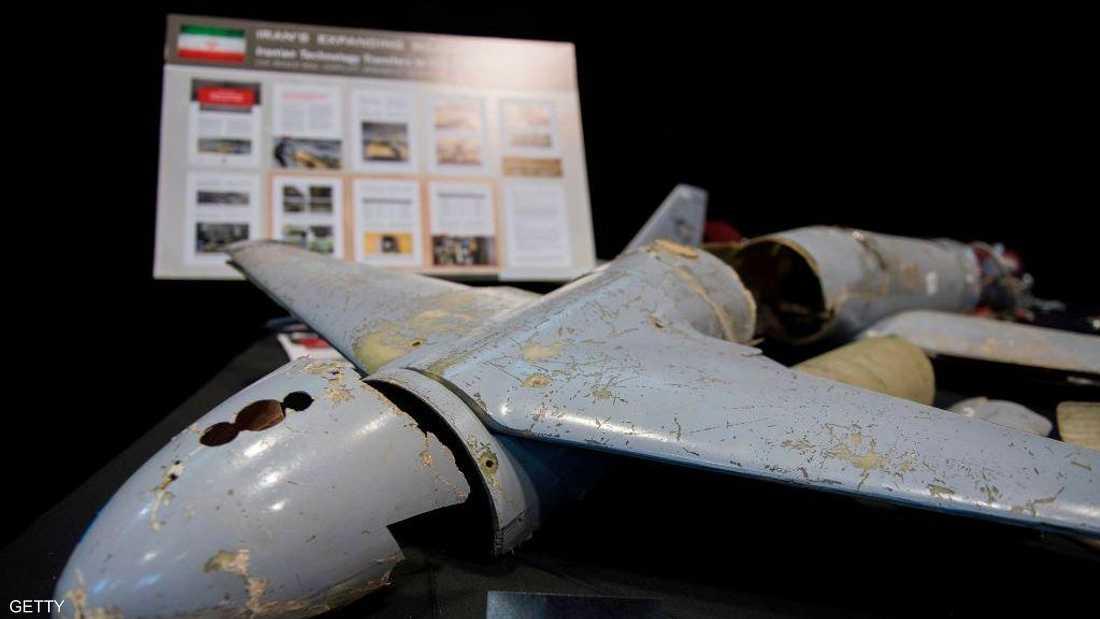 طائرة حوثية من دون طيار إيرانية الصنع (أرشيف)