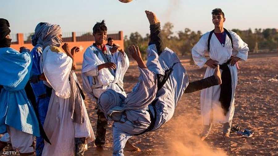 لمهارات كرة القدم نصيب أيضا في المهرجان.