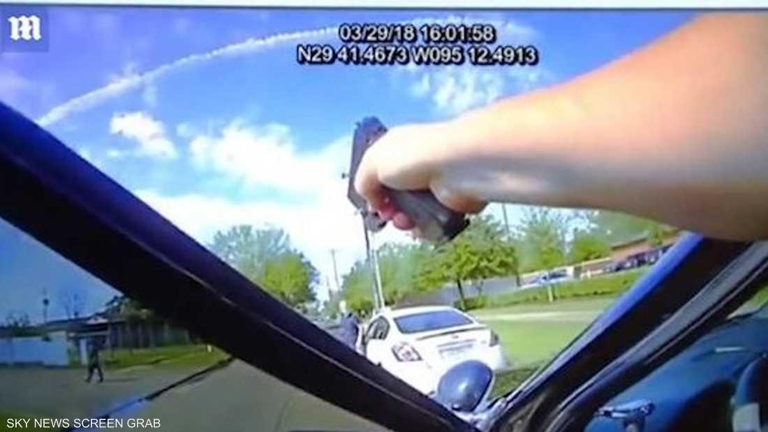"""""""ملاحقة مثيرة"""" في تكساس بين شرطي وسائق"""