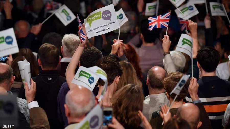 الحملة ترغب في الاستفتاء على اتفاق بريكست