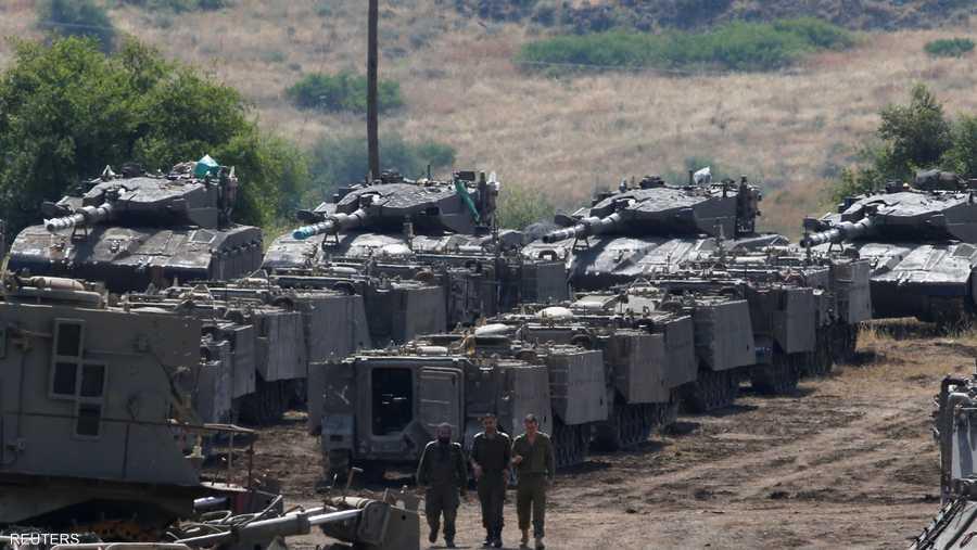 حشود عسكرية إسرائيلية في لقطة أرشيفية