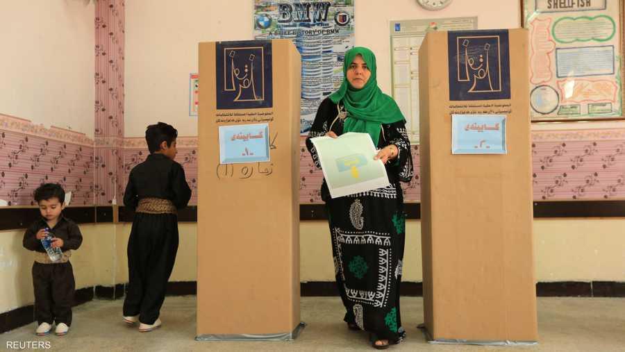امرأة صوتت في مدينة السليمانية شمالي العراق