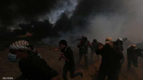 اندلعت المواجهات على الحدود في قطاع غزة
