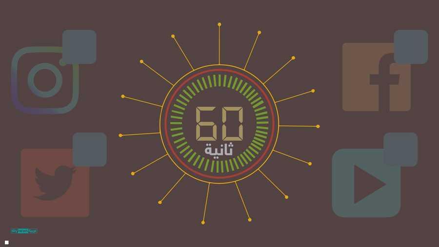 ماذا يحدث على الإنترنت خلال 60 ثانية؟