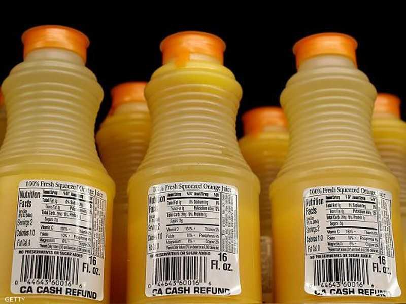العاصئر تحتوي على كميات كبيرة من السكر.