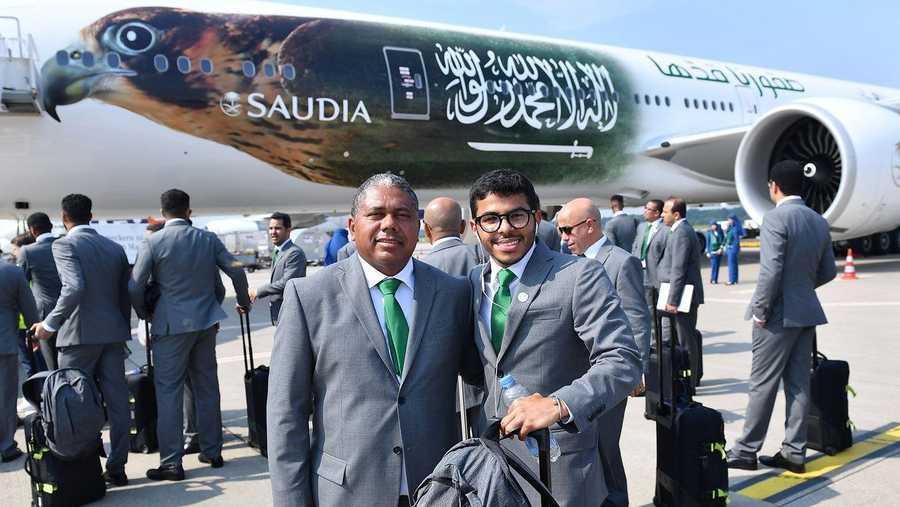 وصول المنتخب السعودي لروسيا