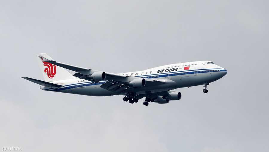 طائرة آير تشاينا التي حملت زعيم كوريا الشمالية