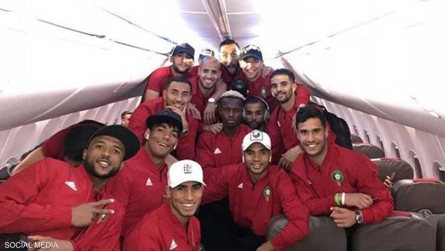 داخل طائرة المنتخب المغربي