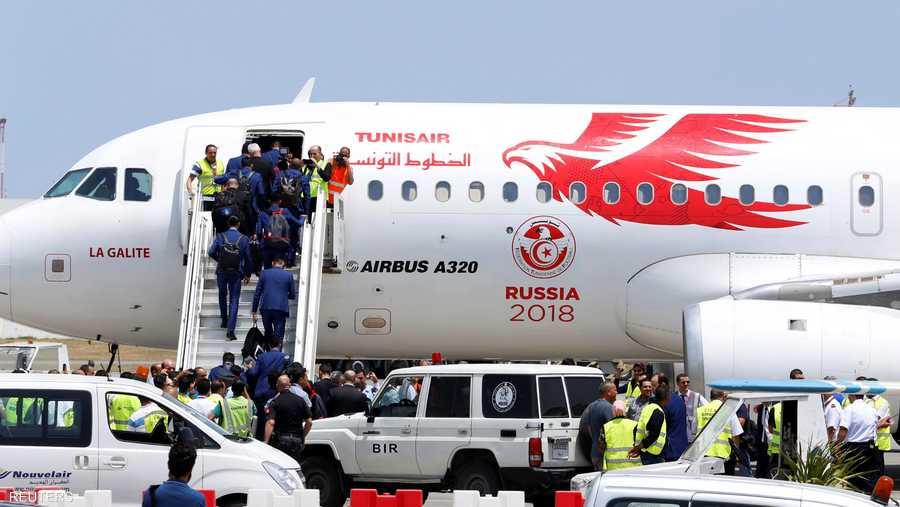 طائرة المنتخب التونسي المتجهة لروسيا