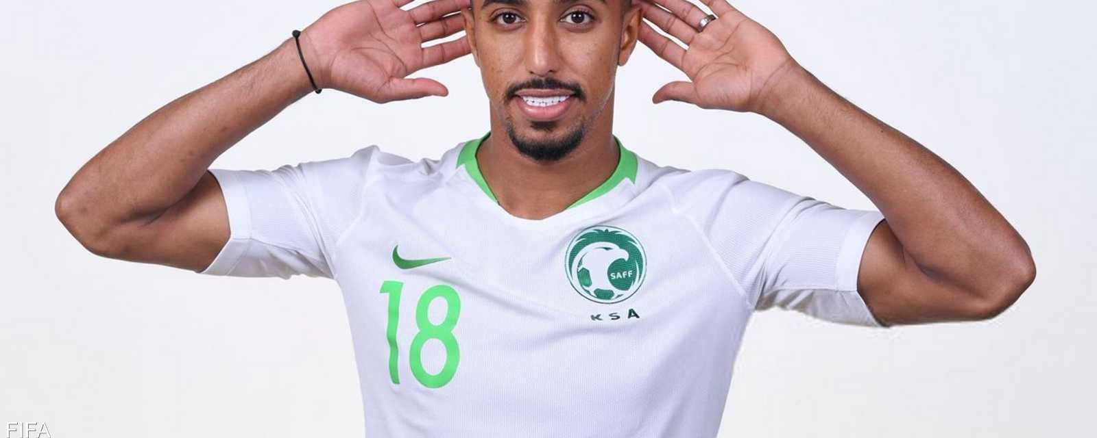 سالم الدوسري نجم المنتخب السعودي