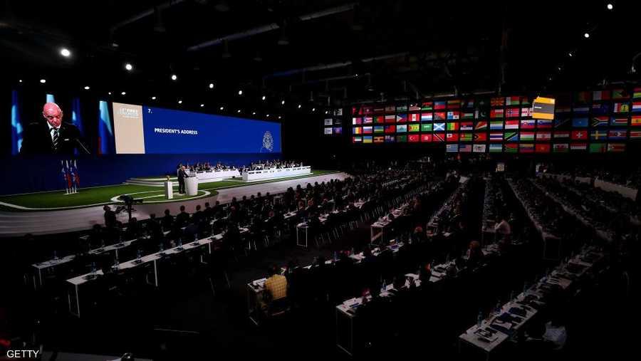 كل أعضاء الجمعية العمومية للفيفا شاركوا في التصويت