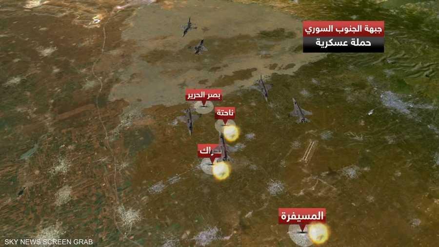 غارات للمقاتلات الروسية على فصائل المعارضة بريف درعا