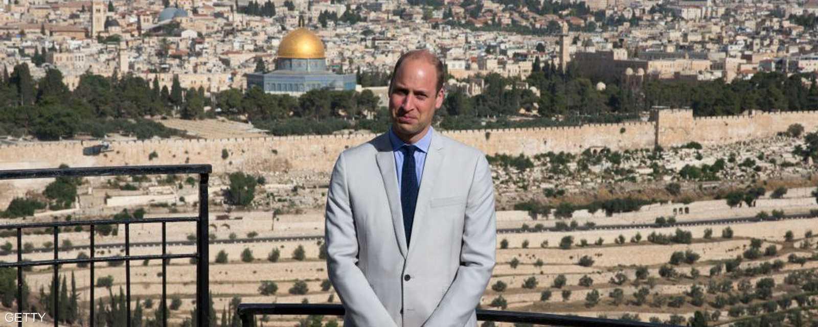 الأمير يزور جبل الزيتون في القدس