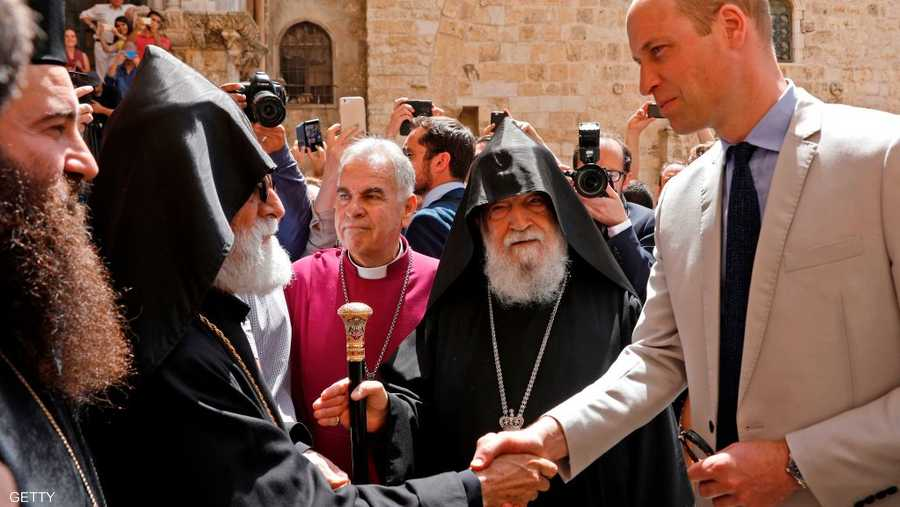 زار الأمير عددا من المواقع الدينية في القدس