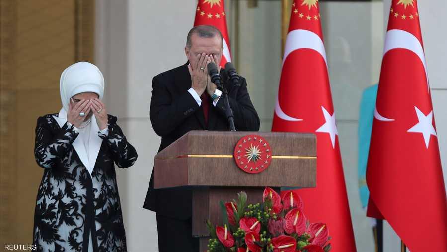 أردوغان عند أداء القسم