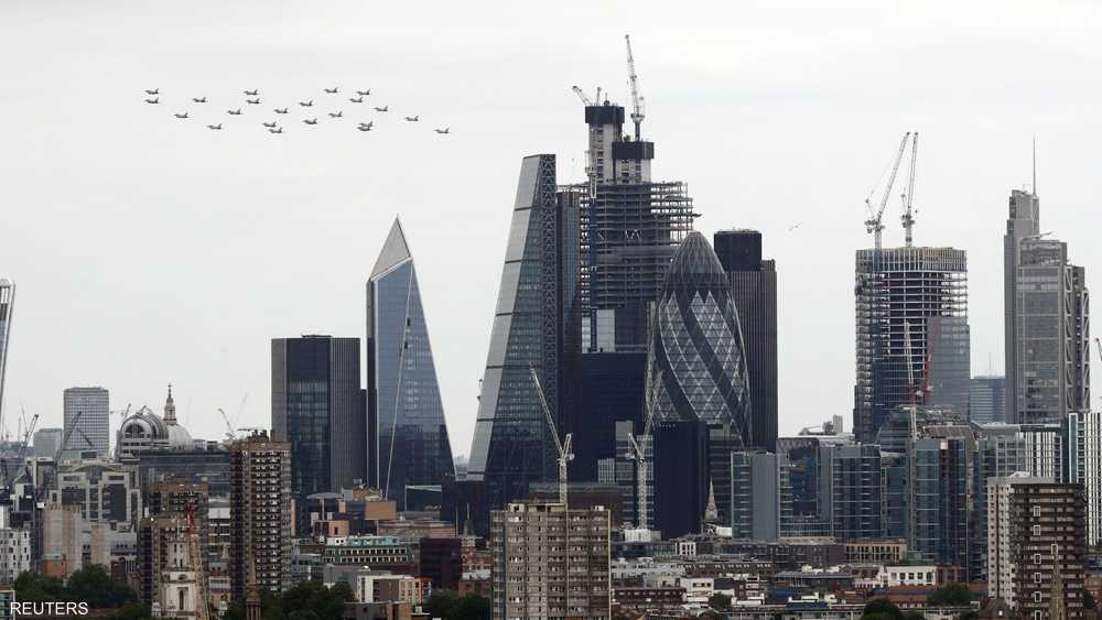 الطائرات حلقت فوق الحي المالي في لندن