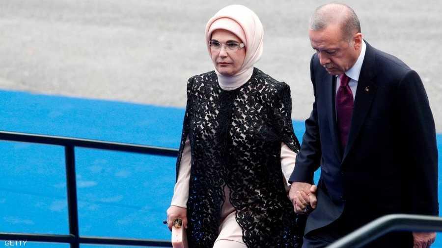 أمنية أردوغان زوجة الرئيس التركي حضرت القمة