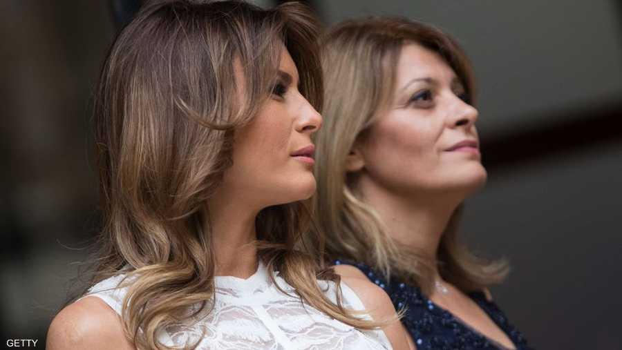 صورة لميلانيا ترامب وديسيسلافا راديف زوجة الرئيس البلغاري