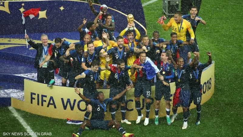 فرنسا تحقق اللقب العالمي للمرة الثانية في تاريخها