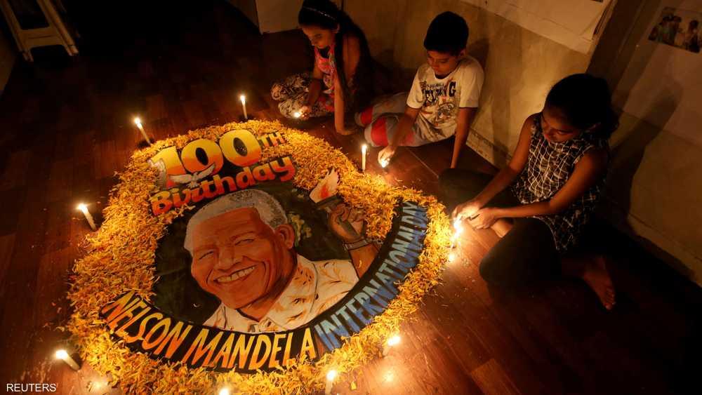 مانديلا ولد في 18 يوليو 1918