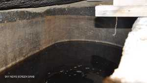 مياه الصرف تسربت إلى التابوت