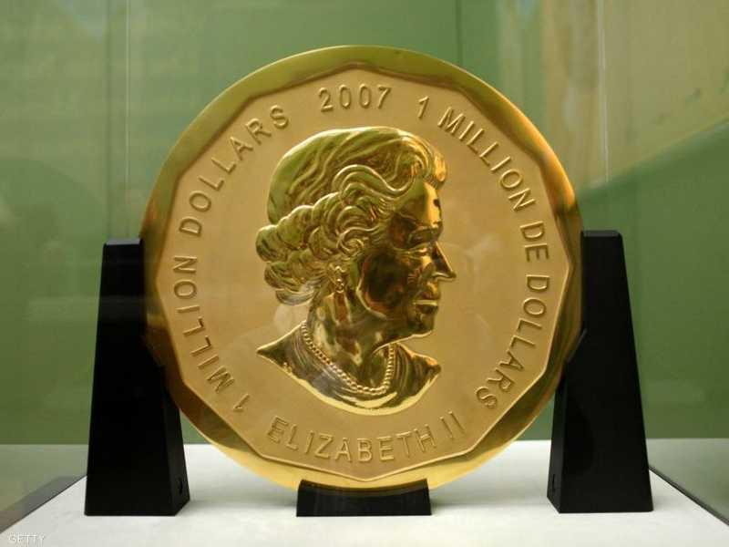 صورة العملة الذهبية من متحف بود