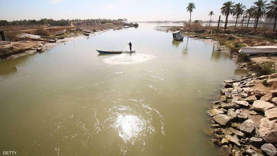 نهر شط العرب في البصرة