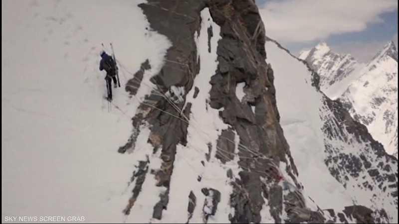 شاهد مغامر يقهر أخطر جبل في العالم أخبار سكاي نيوز عربية