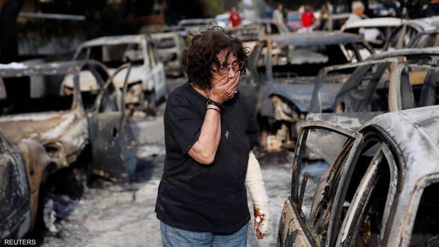 """حرائق """"فاجعة"""" في اليونان"""