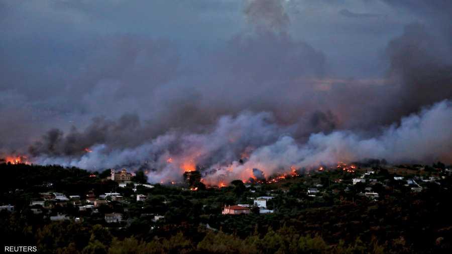 الحرائق التهمت القرية