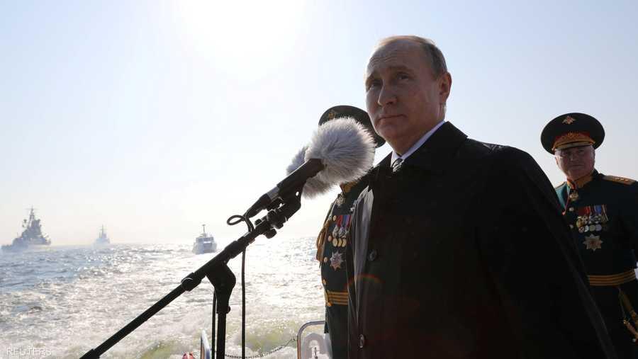 أشاد الرئيس فلاديمير بوتن بتطور سلاح البحر الروسي