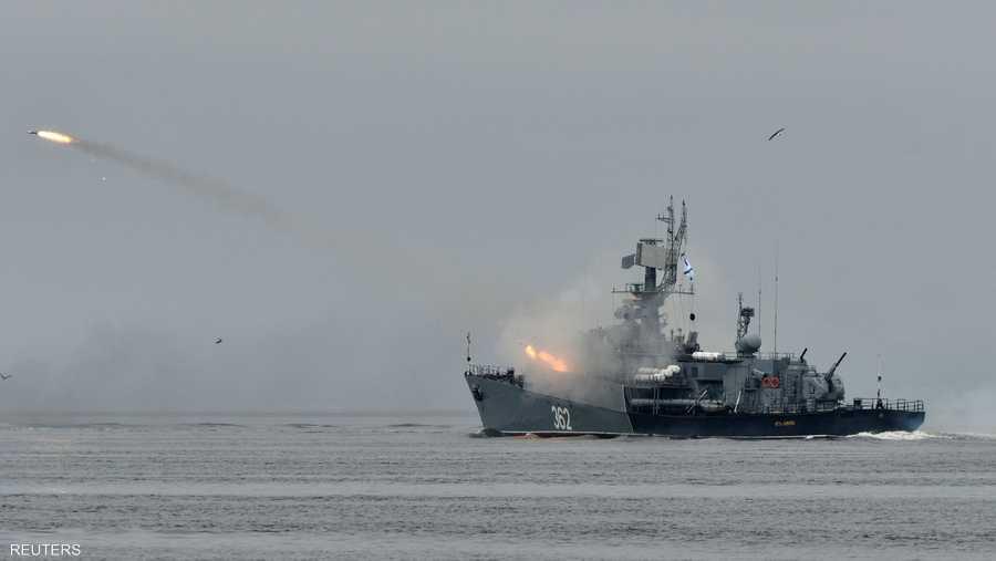 كشفت موسكو عن قطع بحرية جديدة مجهزة بصواريخ