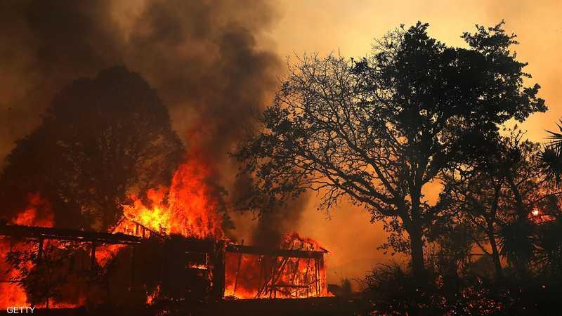 النيران تركزت في مدينة ريدينغ ومحيطها
