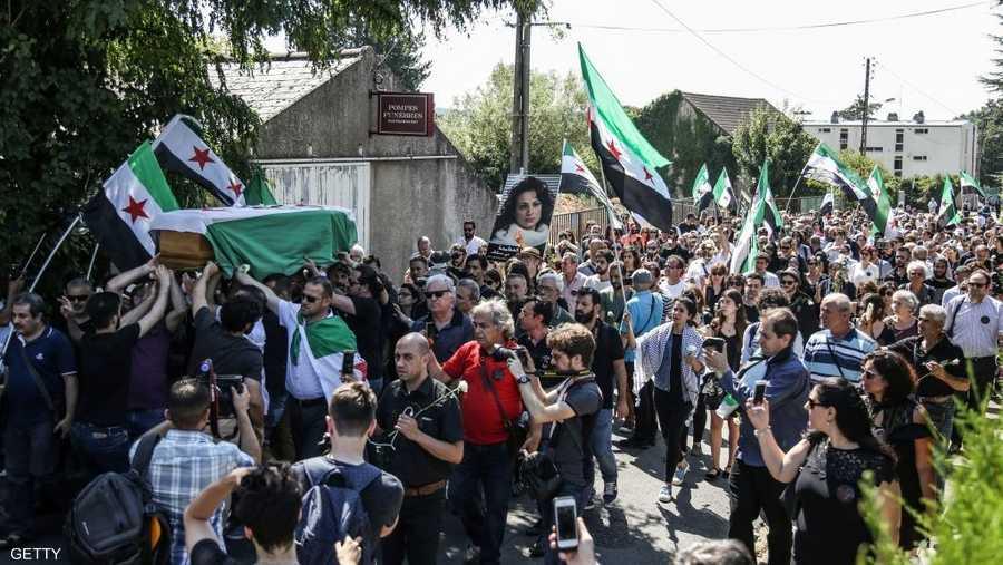 مي كانت من أنصار الثورة السلمية في سوريا
