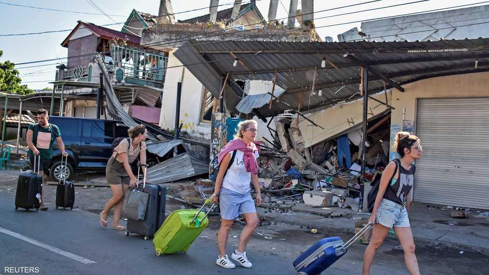 الزلزال أثار الذعر بين السائحين