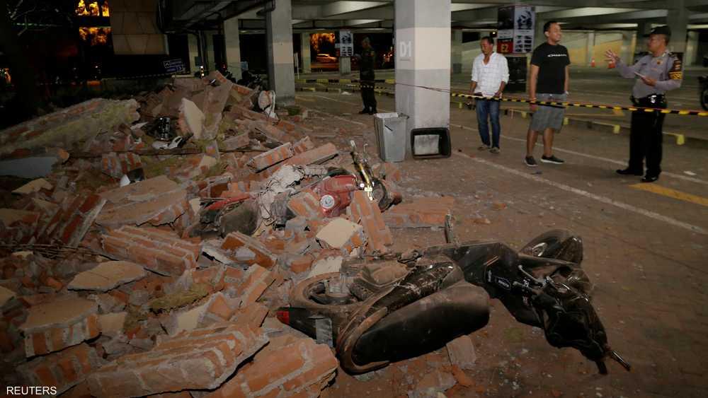 الزلزال ضرب جزيرتي لومبوك وبالي