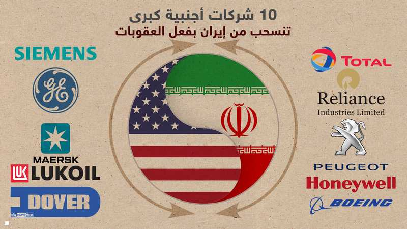 10 شركات قررت مقاطعة إيران