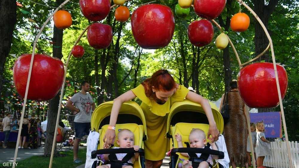 الأطفال كانوا سعداء بالمشاركة في المهرجان