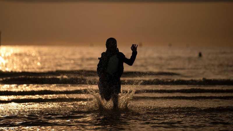 تم التقاط الصور المعبرة عند أحدى سواحل ليفربول في بريطانيا