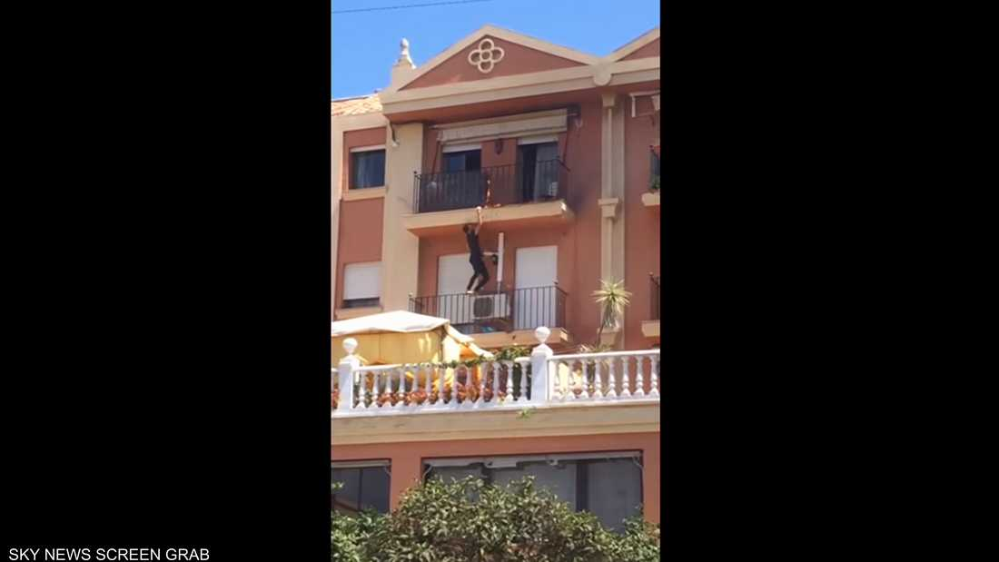 فيديو يوثق شجاعة مهاجر مغربي في إسبانيا