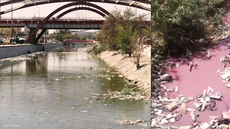 أنهار ملوثة في البصرة