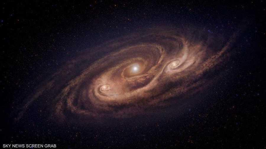 المجرة الوحشية تملك ثلاث مراكز