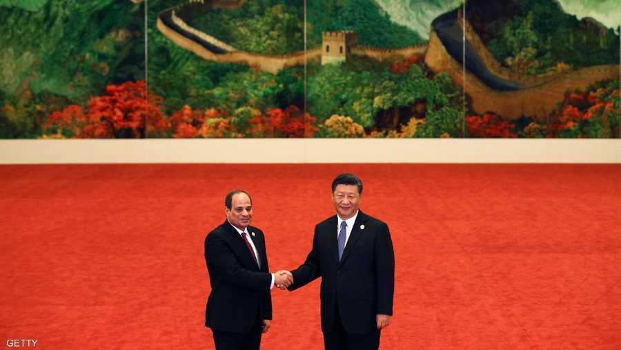 الرئيسان المصري والصيني