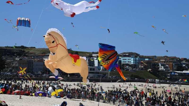 يعتبر أكبر مهرجان للطائرات الورقية في أستراليا