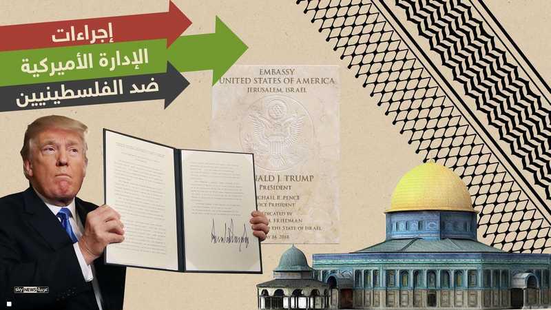 عقوبات ترامب ضد الفلسطينيين.. تسلسل زمني